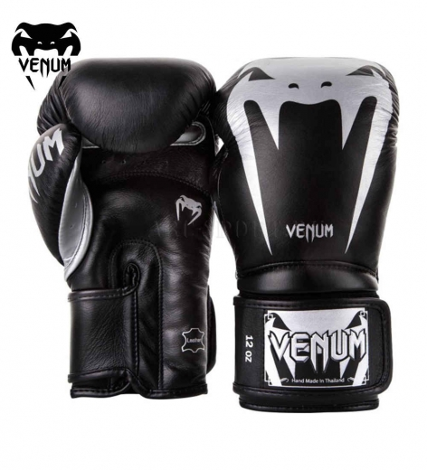 Перчатки боксерские Venum Giant 3.0 Black/Silver Nappa Leather