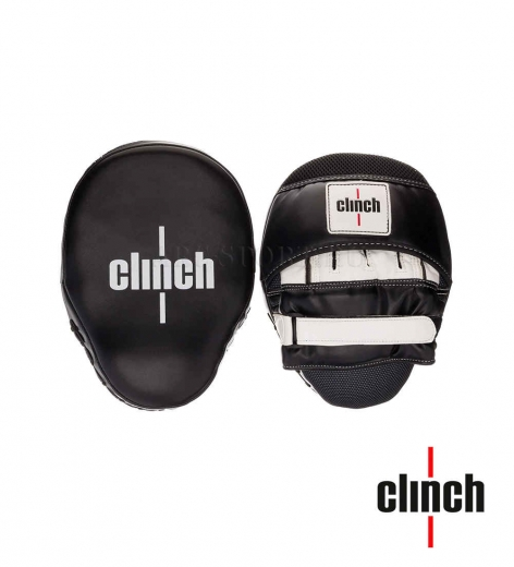 Лапы Clinch Focus Mitt Curve черно-белые