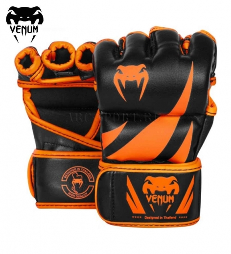 Перчатки ММА Venum Challenger Neo Orange/Black