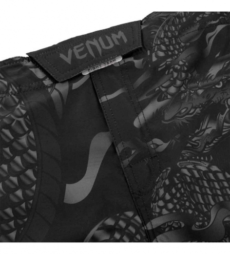 Шорты ММА Venum Dragon's Flight Black/Black
