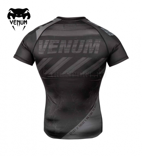 Рашгард Venum Amrap Black/Grey S/S