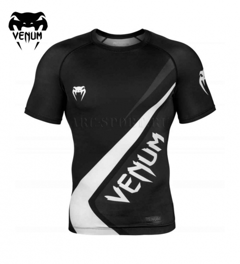 Рашгард Venum Contender 4.0 S/S Black/Grey-White