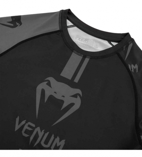 Рашгард Venum Logos Black/Grey L/S