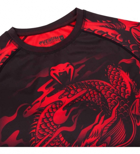 Рашгард Venum Dragon's Flight Black/Red S/S