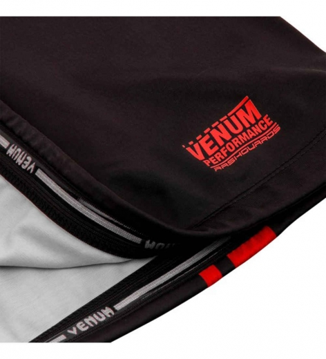 Рашгард Venum Logos Black/Red S/S