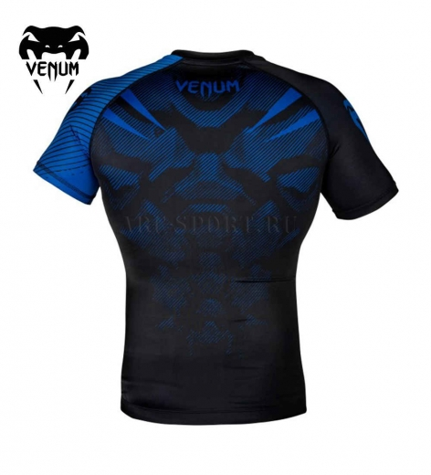 Рашгард Venum NoGi 2.0 Black/Blue S/S